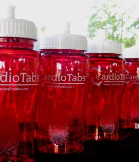 CardioTabs Heart Walk Reusable and Recyclable Waterbottles